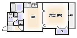 ビジタル湊町8[2階]の間取り