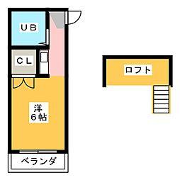 Hills higashiyama B[1階]の間取り