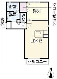H、翔、たんぽぽ館[1階]の間取り