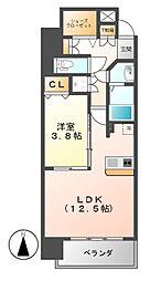 レジディア白壁[9階]の間取り
