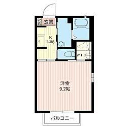 ラ・コートB[2階]の間取り