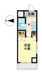 岩井橋ロイヤルハイツ[8階]の間取り