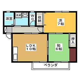 セジュール申子[2階]の間取り