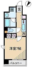 JR山手線 大塚駅 徒歩3分の賃貸マンション 8階1Kの間取り