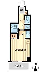 東京都江東区毛利1丁目の賃貸マンションの間取り