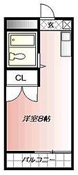 クロスロード清水[5階]の間取り
