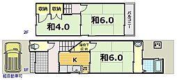 [一戸建] 京都府京都市伏見区竹田狩賀町 の賃貸【/】の間取り