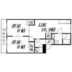静岡県浜松市西区篠原町の賃貸マンションの間取り