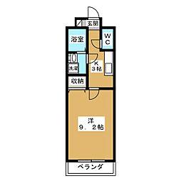 メゾン・ヴィーナス[6階]の間取り