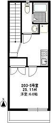 b'CASA Kodaira[205号室]の間取り