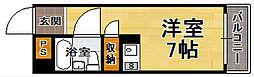 福岡県福岡市中央区薬院1丁目の賃貸アパートの間取り