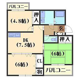 カーサNAKAMURA[2階]の間取り
