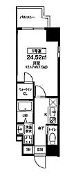 Osaka Metro堺筋線 扇町駅 徒歩8分の賃貸マンション 9階1Kの間取り
