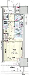 プレサンス新大阪ザ・シティ 1階1Kの間取り