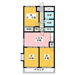 パークシティKATO[3階]の間取り