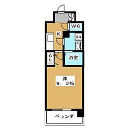 アスヴェル京都四条[4階]の間取り