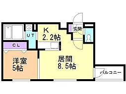 ミルフィーユ 5階1LDKの間取り
