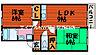 間取り,2LDK,面積55.28m2,賃料6.0万円,JR山陽本線 北長瀬駅 徒歩3分,JR伯備線 北長瀬駅 徒歩3分,岡山県岡山市北区北長瀬本町