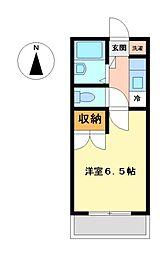 メイプルコート[2階]の間取り