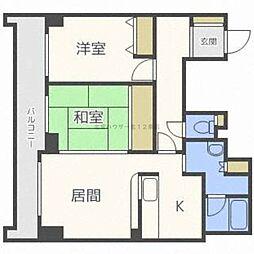 北海道札幌市東区北十六条東4丁目の賃貸マンションの間取り