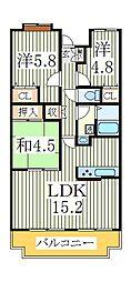 ビューパークヤマモ[1階]の間取り
