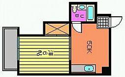 広島県広島市西区楠木町4丁目の賃貸マンションの間取り