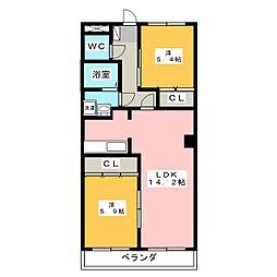 ヴィンテージマルコウA棟[1階]の間取り