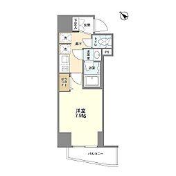JR山手線 巣鴨駅 徒歩4分の賃貸マンション 6階1Kの間取り
