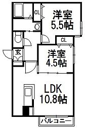 北海道札幌市中央区南十三条西15丁目の賃貸マンションの間取り