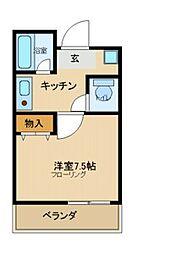 寺町ハウス[2階]の間取り
