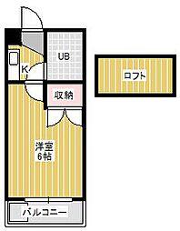 ジュネパレス新松戸第11[2階]の間取り