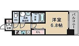 レジュールアッシュ九条[9階]の間取り