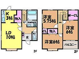 [テラスハウス] 愛媛県東温市横河原 の賃貸【/】の間取り
