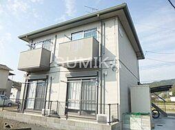岡山県岡山市北区宿の賃貸アパートの外観
