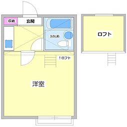 東京都板橋区上板橋1丁目の賃貸アパートの間取り
