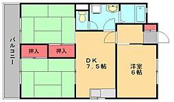 かおるハイツ[2階]の間取り