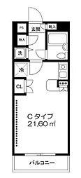 神奈川県川崎市川崎区貝塚1丁目の賃貸マンションの間取り