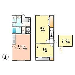 カーサデミキ(Casa de miki)[106号室]の間取り
