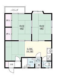 土井丸ホーム[208号室]の間取り