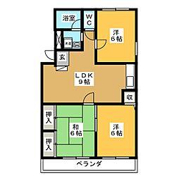 ルミエール高松[3階]の間取り