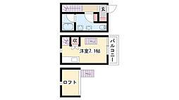 愛知県名古屋市南区本星崎町の賃貸アパートの間取り