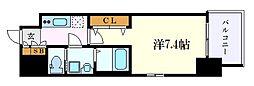 S-RESIDENCE名駅南 11階1Kの間取り