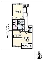 ウィステリア III[1階]の間取り