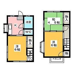 [テラスハウス] 静岡県袋井市久能 の賃貸【/】の間取り