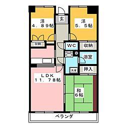 サニープレイス[2階]の間取り