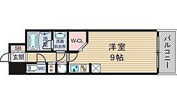大阪府大阪市西区靱本町1-の賃貸マンションの間取り