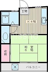 7221−渡会ビル[3B号室]の間取り