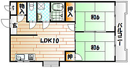 レイ前田[5階]の間取り