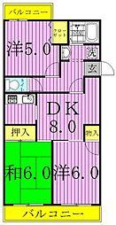 第16パールメゾン小倉.[2階]の間取り