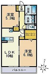 パークハイム横浜鶴見[302号室]の間取り